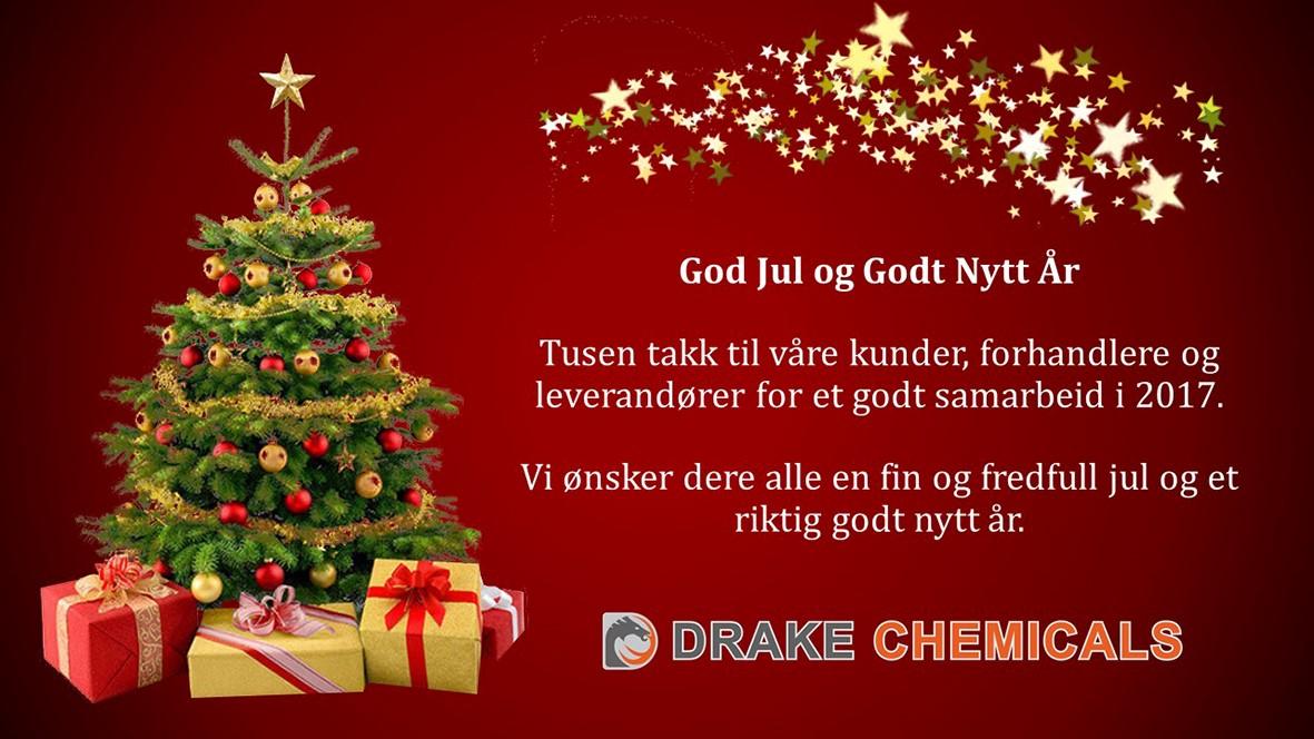 Julehilsen fra Drake Chemicals